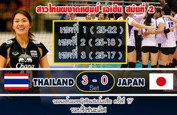 แกร่งเกินร้อย! ตบสาวไทยคว่ำญี่ปุ่น 3 เซตรวดคว้าแชมป์สมัย 2+คลิป