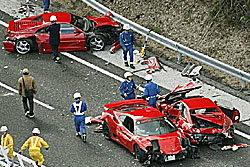 พังยับ! รถหรูชนกัน 12 คันซ้อนที่ญี่ปุ่น