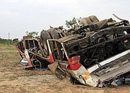 อุบัติเหตุรถบัสจากพม่าพุ่งลงสะพาน ดับ 11