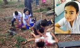 """การ์ดที่ส่งไปไม่ถึงมือแม่...""""พยาบาล""""เล่าเหตุสลด กระบะนร.ชนต้นไม้เทกระจาดตาย 8 ศพ"""