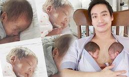 หมอโอ๊ค กับภาพที่น่ารักอุ้มลูกฝาแฝด อลิน อรัญ ในอ้อมอก