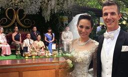 งานแต่ง ชาม ไอยวริญท์ จูงมือแฟนหนุ่มฝรั่ง สู่ประตูวิวาห์