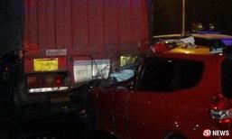2 สาวเซลล์รถ เสยท้ายรถบรรทุก เจ็บสาหัส-อีกคนศีรษะหลุด