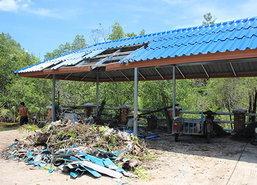 ต.กระโสมพายุพัดบ้านพัง50-สวนยาง100ไร่