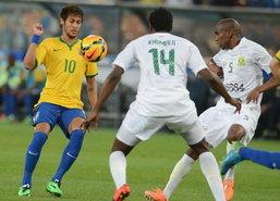แซมบ้าโหดบุกถล่มแอฟริกาใต้5-0,เนย์มาร์ซัด3