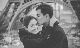 """ภาพหวาน """"แอฟ สงกรานต์"""" ฮันนีมูน ณ ปารีส"""