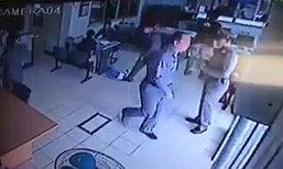 ตำรวจใหญ่ฉุน! โรงพักไม่มีที่จอดรถ ขว้างสมุดทิ้ง
