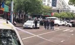 รถชนกันแต่คู่กรณีไม่ยอมลงมาเจรจา สุดท้ายพบหญิงนั่งข้างคนขับเสียชีวิต
