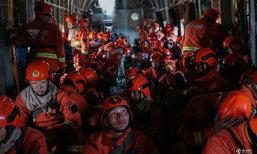 เผยภาพดับเพลิงและจนท.จีนราว 9,000 คน เผชิญไฟป้าที่มองโกเลีย
