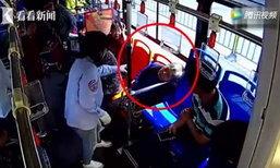 ป้าจีนวัย 63 หัวใจวายบนรถเมล์ คนขับเปลี่ยนเส้นทางพาส่งรพ.