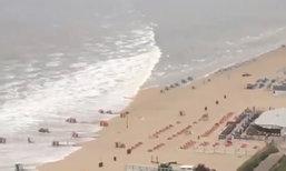 มินิสึนามิ ถล่มเข้าสู่ชายหาดเนเธอร์แลนด์