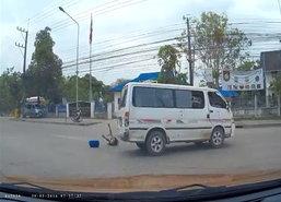 ตาก-รถตู้โดยสารน.ร.ซิ่งทางโค้งนักเรียนร่วง