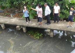 ชาวปทุมฯร้องพบคราบน้ำมันในแหล่งน้ำสาธารณะ