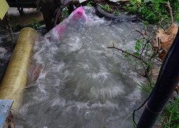 ท่อประปาแตกน้ำเข้าบ้านปชช.ย่านรังสิตอื้อ