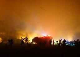 ไฟไหม้ป่าพรุทะเลน้อยพัทลุงอีกจุด-จนท.เร่งดับ