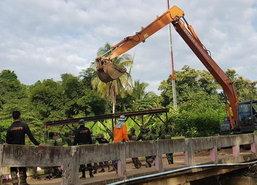 แพร่เร่งสร้างสะพานแบริ่งอ.เด่นชัยหลังน้ำป่าซัด