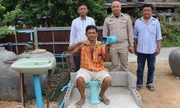 งูไม่ได้แอ้ม!! ชาวบ้านประดิษฐ์อุปกรณ์ป้องกันงูเข้าท่อระบายน้ำและโถส้วม