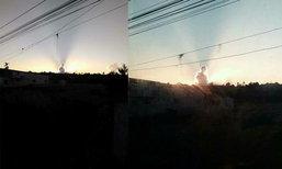 ฮือฮา ภาพแสงอาทิตย์ส่องก้อนเมฆ คนมองเป็นรูปพ่อหลวง