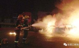 3 ฮีโร่นักดับเพลิง ฝ่าเปลวไฟลุกท่วมรถช่วยคนเจ็บ