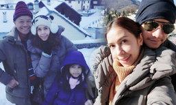 อบอุ่น ยุ้ย ปัทมวรรณ พาพ่อรอง เที่ยวสวิสพร้อมสามีและลูก