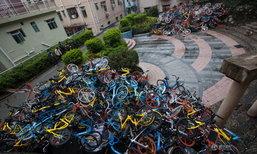 พังหรือเก็บมาทิ้ง จักรยานสาธารณะในจีนราว 500 คัน จอดกองสุมเป็นภูเขา