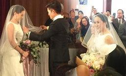 อั๋น ภูวนาท แต่งงานแฟนสาว จ๋า จูงมือเข้าโบสถ์จัดพิธีคริสต์