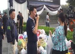 DSIให้ศิษย์ธรรมกาย20คนนำอาหารเข้าไปส่งภายในวัด