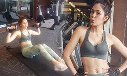 คุณแม่สตรอง! ชมพู่ อารยา อุ้มท้อง 3 เดือน ออกกำลังกาย