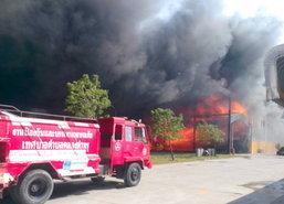 ไฟไหม้โรงงานชลบุรีเสียหายไม่ต่ำกว่า300ล้าน