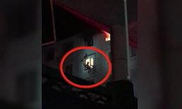 ระทึก! กู้ภัยจีนคว้าตัวช่วยหญิงหมดแรงเกาะขอบหน้าต่างชั้น 6 ตึกไฟไหม้
