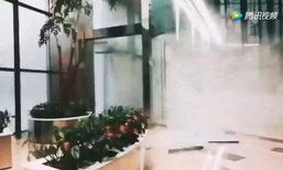 เผยคลิปเฉิงตูเจอฝนถล่ม ลมกระโชกแรงพัดปลิวไม่ยั้ง