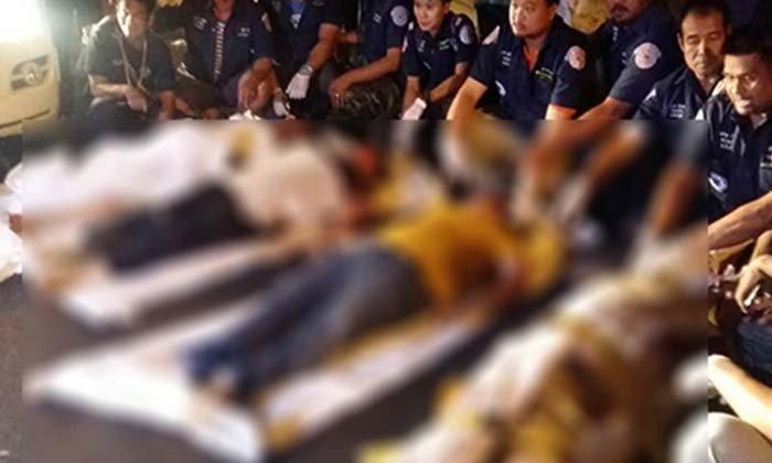สรุปชื่อผู้ได้รับบาดเจ็บเสียชีวิตชน 4 ศพ