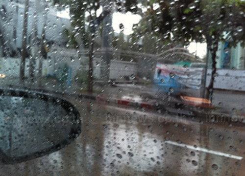 อุตุฯเผยตอ.และใต้มีฝนหนักกทม.ตกฟ้าคะนอง