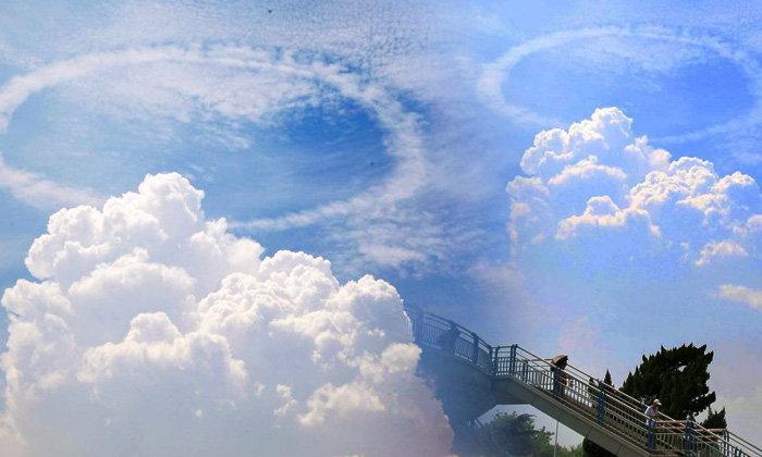 คนจีนสุดฮือฮา เจอเมฆประหลาด เป็นวงแหวนอยู่เหนือฟ้า
