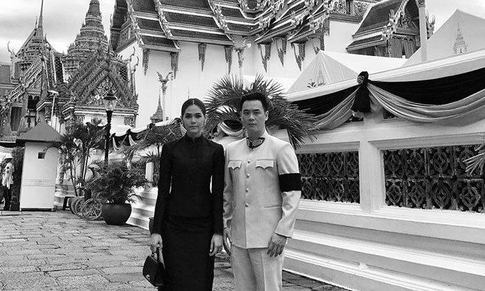 สวยสง่า ชมพู่ อารยา สวมชุดไทยจิตรลดา ควงคู่น็อตสามี
