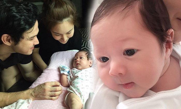 """น่าเอ็นดูมาก """"น้องพลอยเจ"""" ลูกสาวเจ จินตัย ครบ 1 เดือน"""