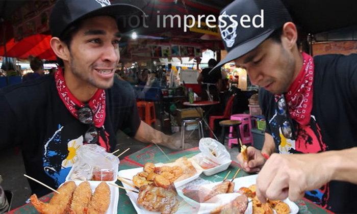 ดราม่าหนุ่มปินส์ รีวิวอาหารข้างทางเมืองไทย คายทิ้งต่อหน้าแม่ค้า