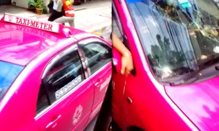ชาวเน็ตเสียงแตก วิจารณ์คลิปล้อมทุบแท็กซี่-บอกชนแล้วหนี