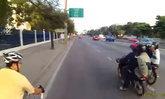 นักปั่นแฉคลิป แก๊งโจ๋คะนอง ขี่จยย.ไล่ถีบจักรยานริมถนน