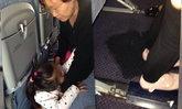 ผู้โดยสารแทบช็อก ยายให้หลานนั่งฉี่ใส่พรมที่นั่งเครื่องบิน