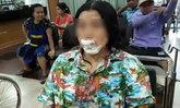 สาวใหญ่เอาขวดโซดาแช่ในกระติกน้ำแข็ง เกิดระเบิดปากฉีก