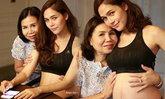ชมพู่ แชะภาพคู่คุณแม่ โชว์ท้องลูกฝาแฝด พุงเริ่มป่อง