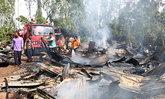 ไฟไหม้แคมป์คนงานเขมรที่ปราจีนบุรีวอด7หลัง