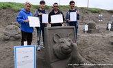 ศิลปินไทยคว้ารางวัลที่ 1 และ 2 ประกวดแกะสลักทรายที่ฮอกไกโด