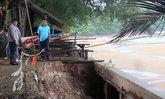 คลื่นลมแรงกัดเซาะแนวชายหาดคุ้งวิมานพัง