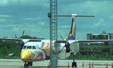 เครื่องบินนกแอร์ลำปางยางแตก-ไร้เจ็บ