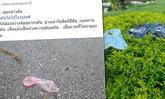 คนอุดรฯ ละเหี่ยใจ ภาพถุงยาง-เสื้อผ้า ตกทิ้งไว้กลางสวน