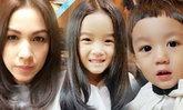 3 แม่ลูกน้องณดา น้องณดล แม่กบ กับทรงผมใหม่น่ารักมาก