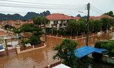 ฝนถล่มลพบุรีผู้ว่าฯสั่งสูบคาด2ชม.ถึงถ.เข้าเมือง