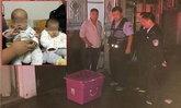 แม่จีนจับลูกแฝดยัดกล่องทิ้ง โชคดีเจ้าของบ้านได้ยินเสียง